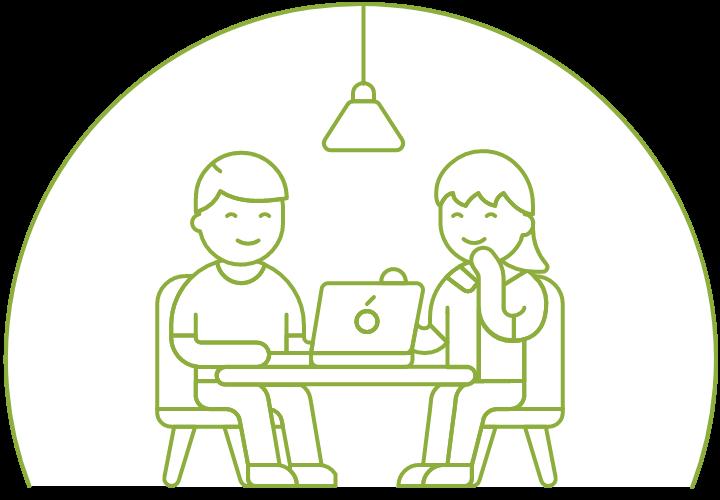 illustration of a job interview